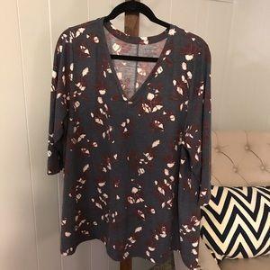 Lane Bryant V-Neck Floral Print Tunic